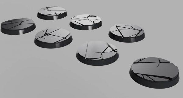 32mm Shattered Model Bases x7